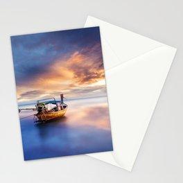 Ao nang beach at sunrise Stationery Cards