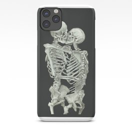 Valentine's Day: Skeleton Kiss iPhone Case