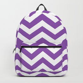 Purple: Chevron Pattern Backpack