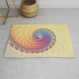 The Glow From Within - Fractal Art Rug