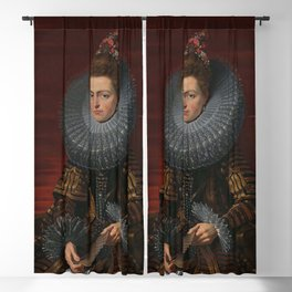 Tudor Lady in large Ruff collar Blackout Curtain