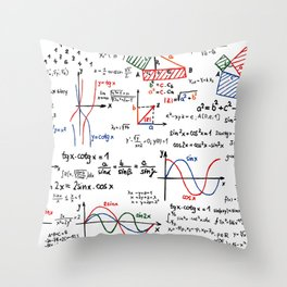 Math Cheat Sheet Throw Pillow