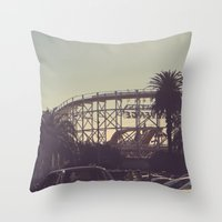 postcard Throw Pillows featuring postcard moments by Lewis Best
