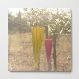 Pink Lemonade Parasol, Umbrella, Nature, Bokeh  Metal Print