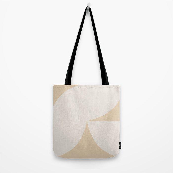 Curvature Minimalism II - Warm Neutral Tote Bag