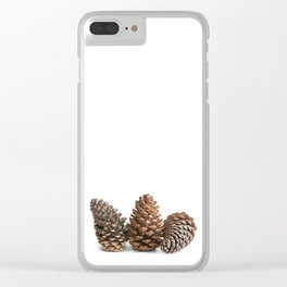 Three pinecones Clear iPhone Case