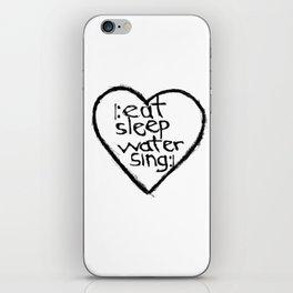 singers heart iPhone Skin