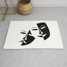 Comedy & Tragedy Drama Masks Rug