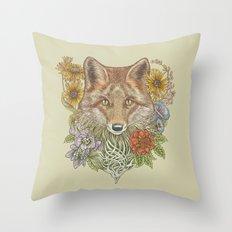 Fox Garden Throw Pillow