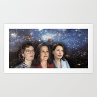 yankees Art Prints featuring THE THREE GREAT LADIES by Kaitlin Smith
