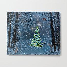 Forest Christmas Metal Print