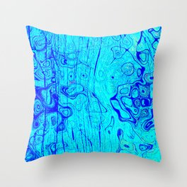 Abstract Oil on Water Throw Pillow