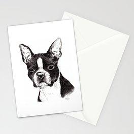 Boston Terrier Portrait Stationery Cards