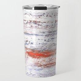Orange purple clouded watercolor Travel Mug