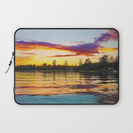 Up North Sunset Laptop Sleeve