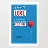 Love free Art Print
