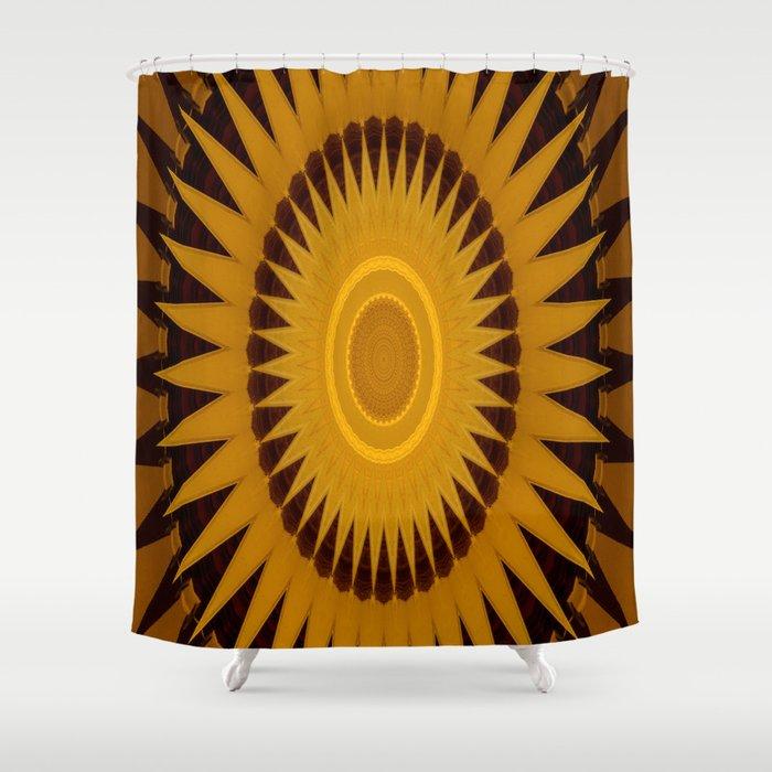 kaleidoscope sunburst design. Shower Curtain by ...
