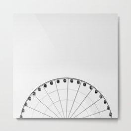 1/2 Ferris Wheel Metal Print