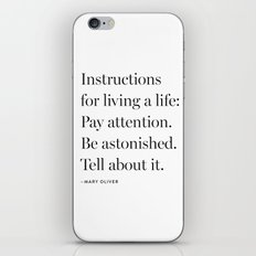 Mary Oliver iPhone & iPod Skin