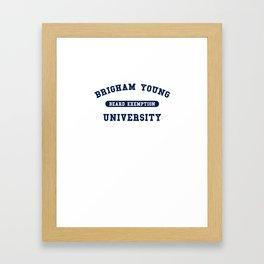 Beard Blue Framed Art Print