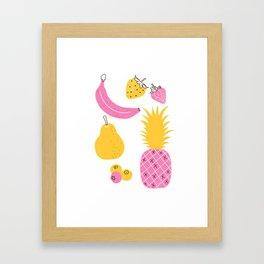 Retro Fruit Framed Art Print