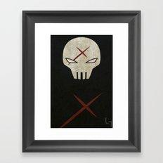 Red X Framed Art Print