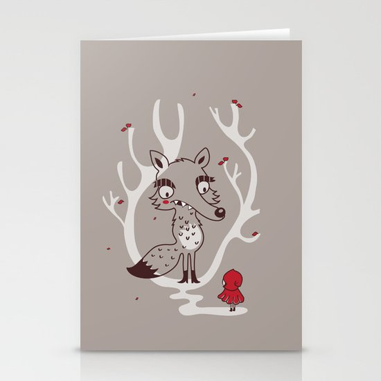 Hello big wolf Stationery Cards