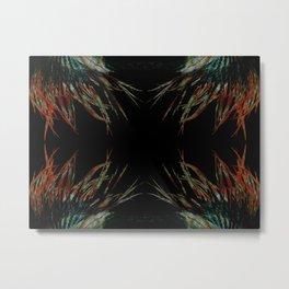 Sacred feathers geometry IV Metal Print