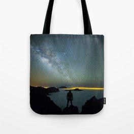 Milky way man Tote Bag