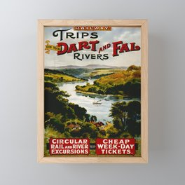 Werbeplakat Dart and Fal Rivers Framed Mini Art Print