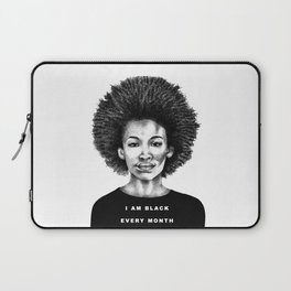 I Am Black Every Month Laptop Sleeve