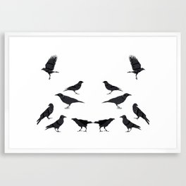 kargalar (crows) Framed Art Print
