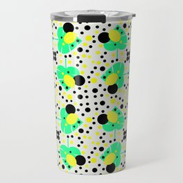Bubbly pattern with leaves Travel Mug