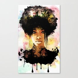 Woman In Color Canvas Print