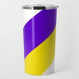Team Colors 12....purple.yellow,white Travel Mug