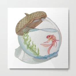 Fish Bowl Metal Print