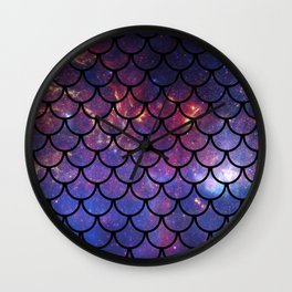 Galaxy Fish Scales Pattern Wall Clock
