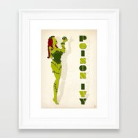 poison ivy Framed Art Prints featuring Poison Ivy by Lily's Factory