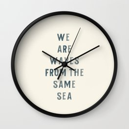 Waves From The Same Sea Wall Clock