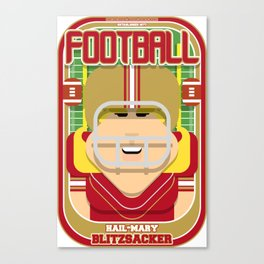 American Football Red and Gold - Hail-Mary Blitzsacker - Hazel version Canvas Print