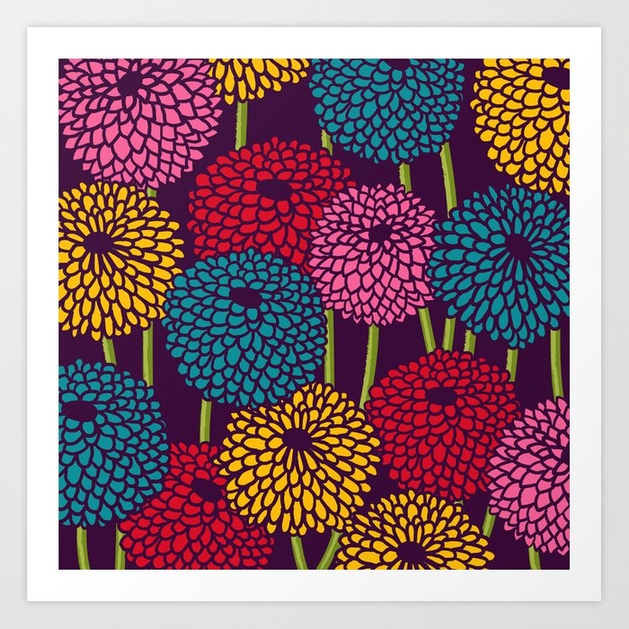Full of Chrysanth Art Print