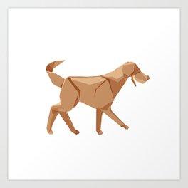 Origami Dog Art Print