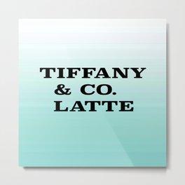 Tiffany & Co. Latte Metal Print