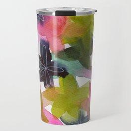 Kaleidoscope of Petals Travel Mug