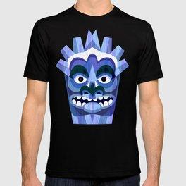 Blue Tiki Mask T-shirt