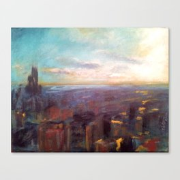 View from the Hancock Building Canvas Print
