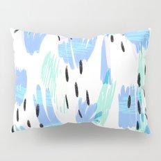 Addie - bold abstract - bright blue Pillow Sham