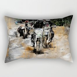 Oncoming! - Motocross Racers Rectangular Pillow