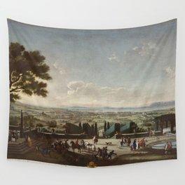 Juan Patricio Morlete Ruiz - View of the Town and Harbor of Toulon (La villa y rada de Tolón) Wall Tapestry