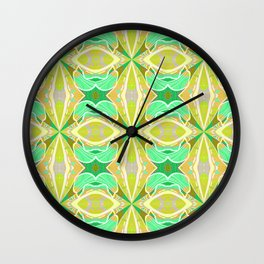 Ultra Classic Chic Psychedelic Floral Geometric Wall Clock